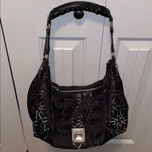 Very cute black and silver Vera Wang bag!